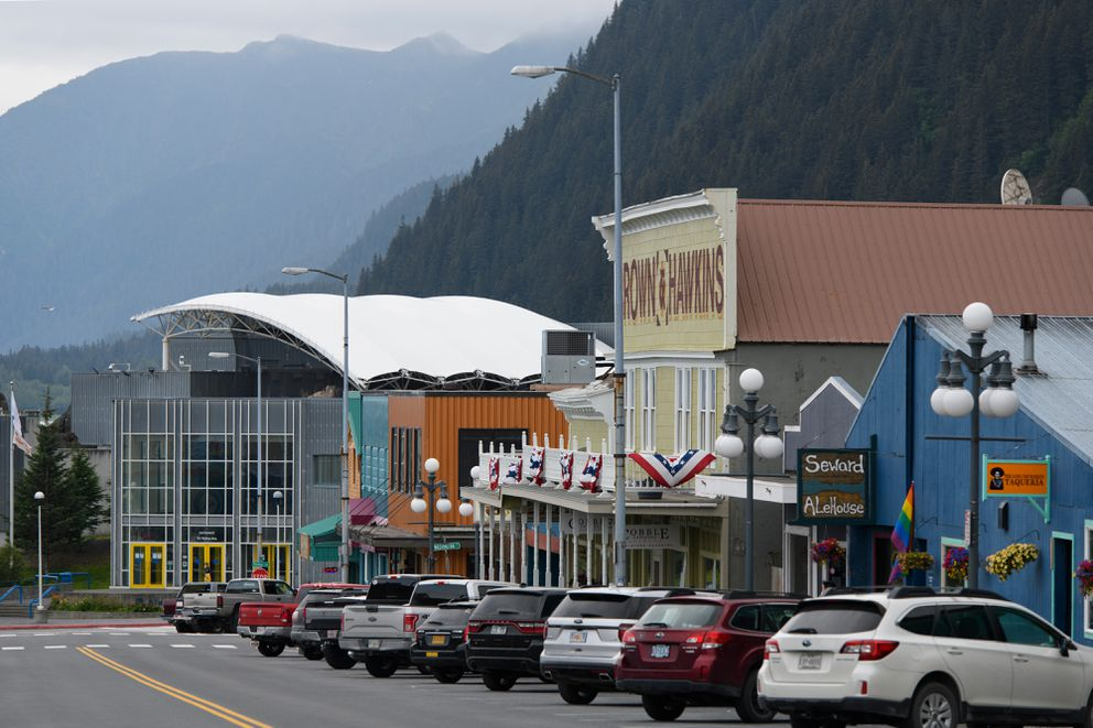 The Alaska SeaLife Center in downtown Seward is one of the city's largest private employers and a popular tourist draw. Photographed on July 6, 2020. (Marc Lester / ADN)