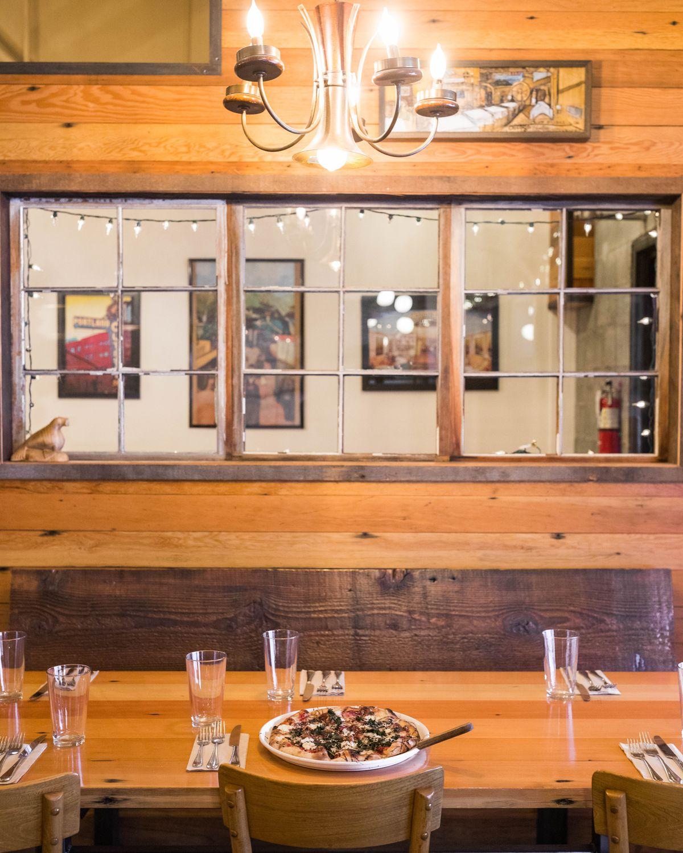 Hearth's beet and kale pizza, photographed Saturday, Dec. 24, 2016. (Loren Holmes / Alaska Dispatch News)