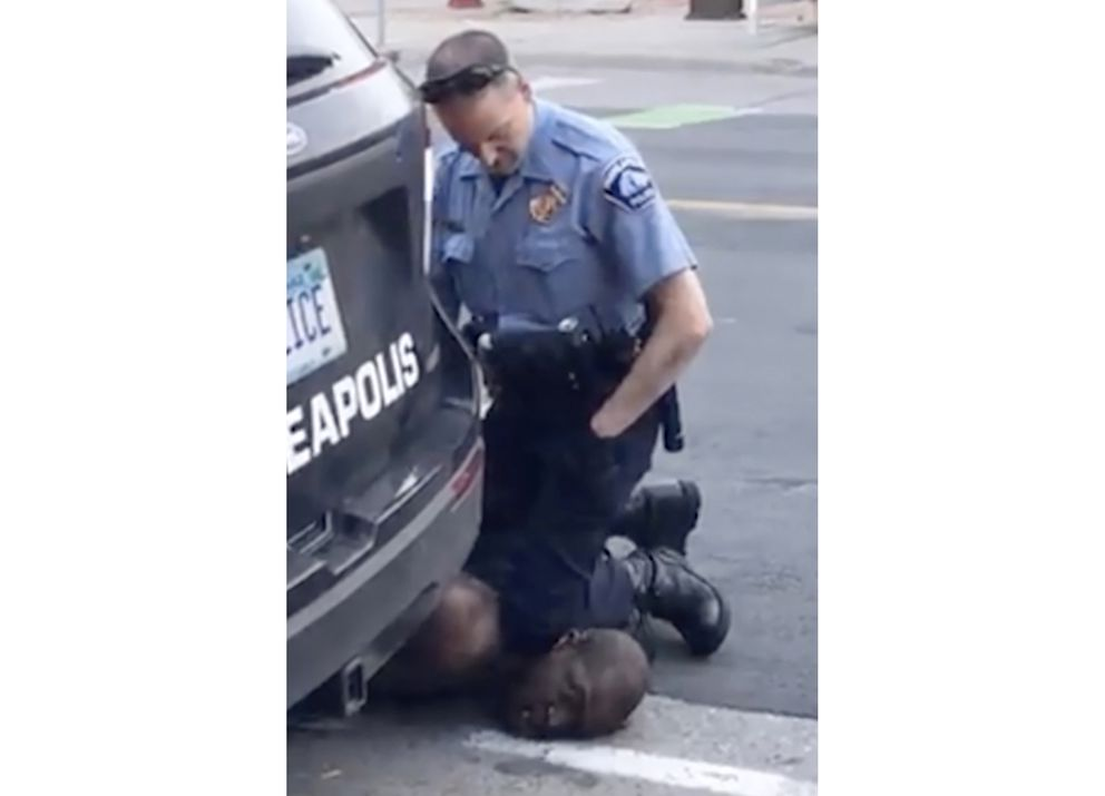 FILE - In this Monday, May 25, 2020, file frame from video provided by Darnella Frazier, a Minneapolis officer kneels on the neck of George Floyd, a handcuffed man who was pleading that he could not breathe, in Minneapolis. Police around the U.S. and law enforcement experts are broadly condemning the way Floyd, who died in police custody, was restrained by a Minneapolis officer who dug his knee into the man's neck. (Darnella Frazier via AP, File)