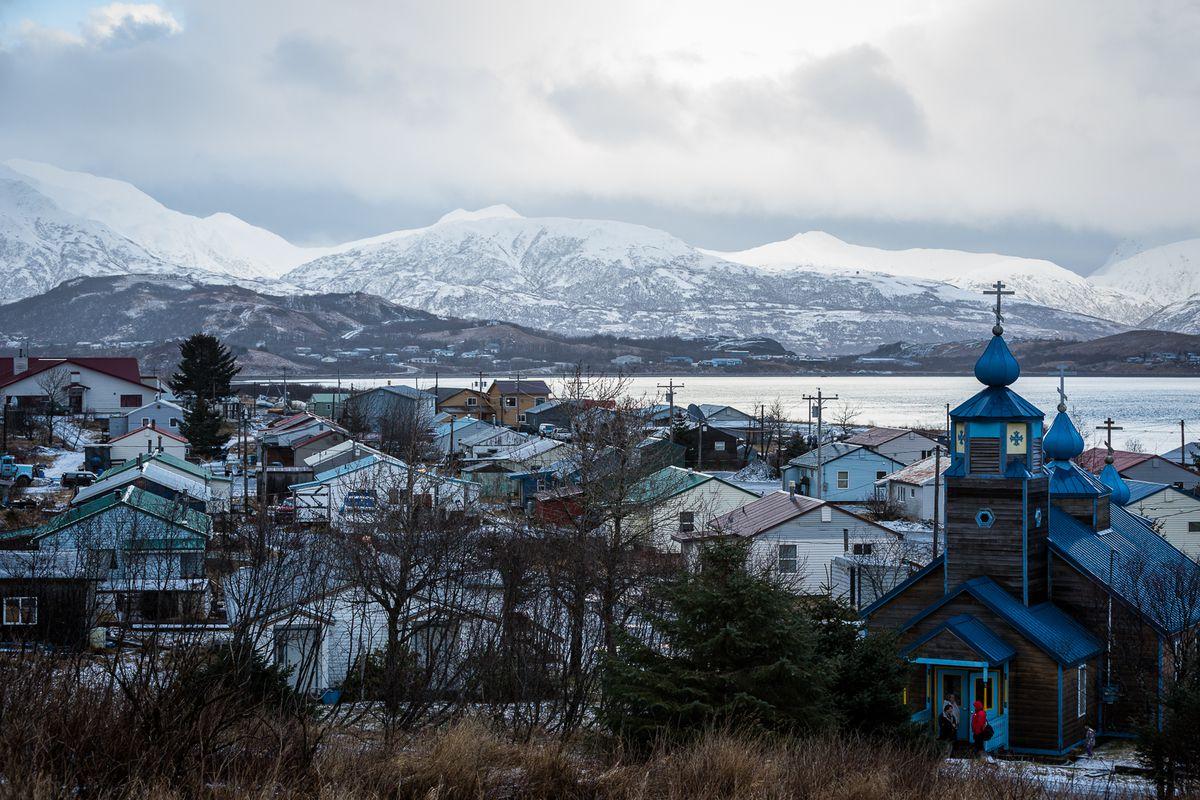 The Russian Orthodox Church at the village of Old Harbor on Kodiak Island. (Loren Holmes / ADN archive)