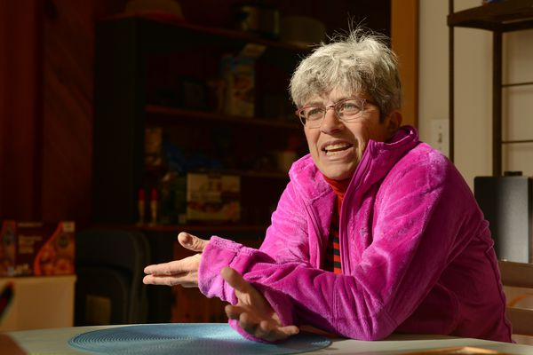Former United States Attorney for the District of Alaska, Karen Loeffler, talks about her retirement and coaching tennis at Eagle River High School as an assistant and her up coming climb of Mt Kilimanjaro at her home in Anchorage, Alaska on Tuesday, Sept. 26, 2017. (Bob Hallinen / Alaska Dispatch News)