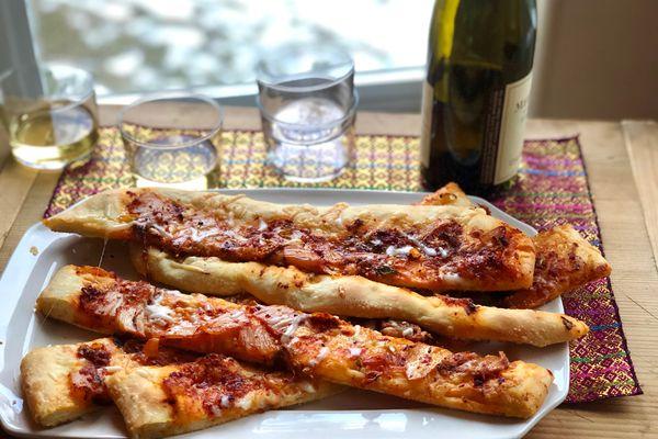 Caramelized kimchi breadsticks (Photo by Kim Sunée)