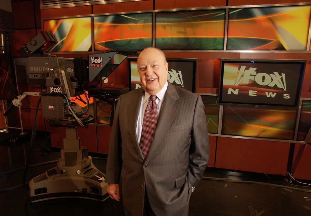 "In this Sept. 29, 2006 file photo, Fox News CEO Roger Ailes poses at Fox News in New York. A new documentary, ""Divide and Conquer: The Story of Roger Ailes,"" directed by Alexis Bloom, deconstructs the rise and fall of the late head of Fox News Channel. The film opened in theaters on Dec. 6, as well as VOD, Apple iTunes, and Amazon streaming services. (AP Photo/Jim Cooper, File)"