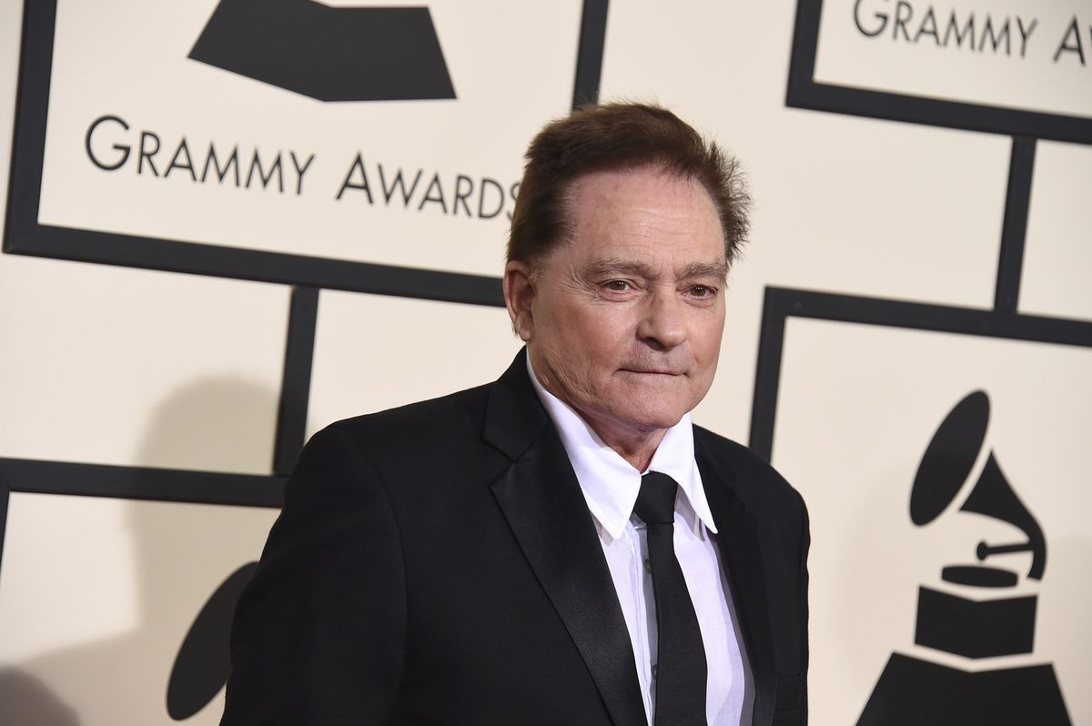 FILE - In this Feb. 15, 2016 file photo, Marty Balin arrives at the 58th annual Grammy Awards at the Staples Center in Los Angeles. Singer Balin of the Jefferson Airplane has died at age 76. Spokesman Ryan Romenesko said Balin died Thursday, Sept. 27, 2018, in Tampa, Fla., where he was on the way to the hospital. The cause of death was not immediately available. (Photo by Jordan Strauss/Invision/AP, File)