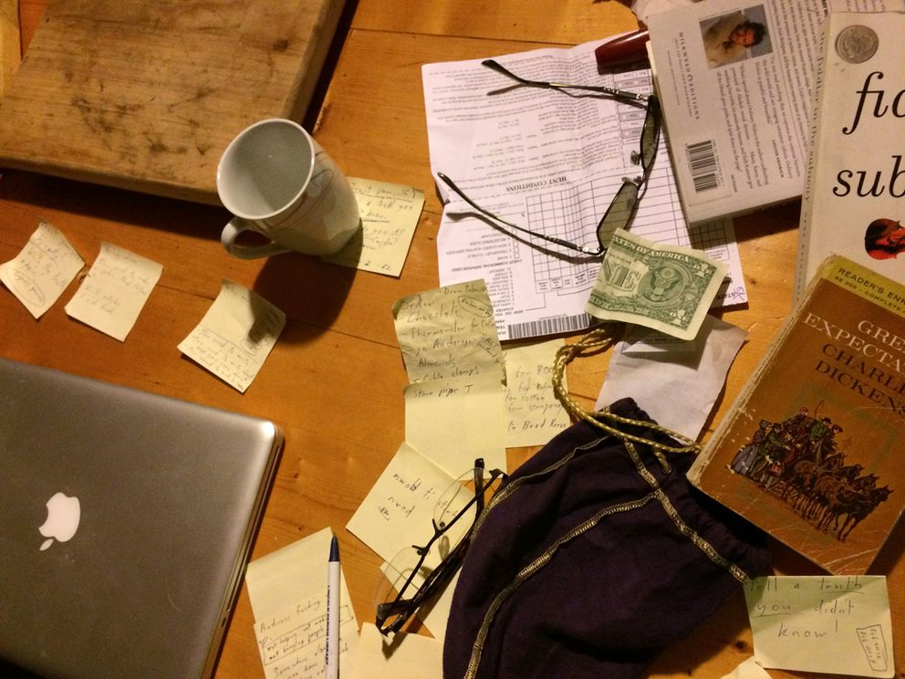 The cabin table. (Photo by Seth Kantner)