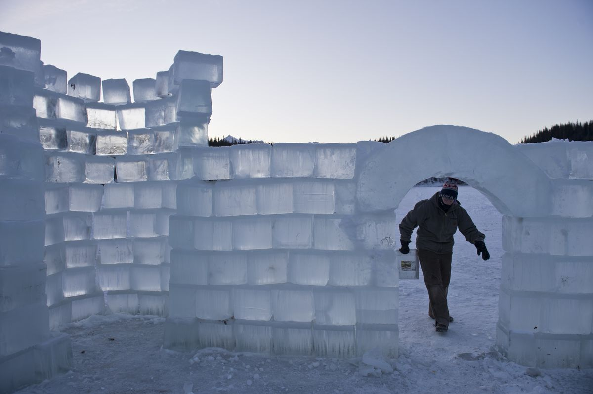 Like Frozen But Real A Remote Alaska Camp Builds An