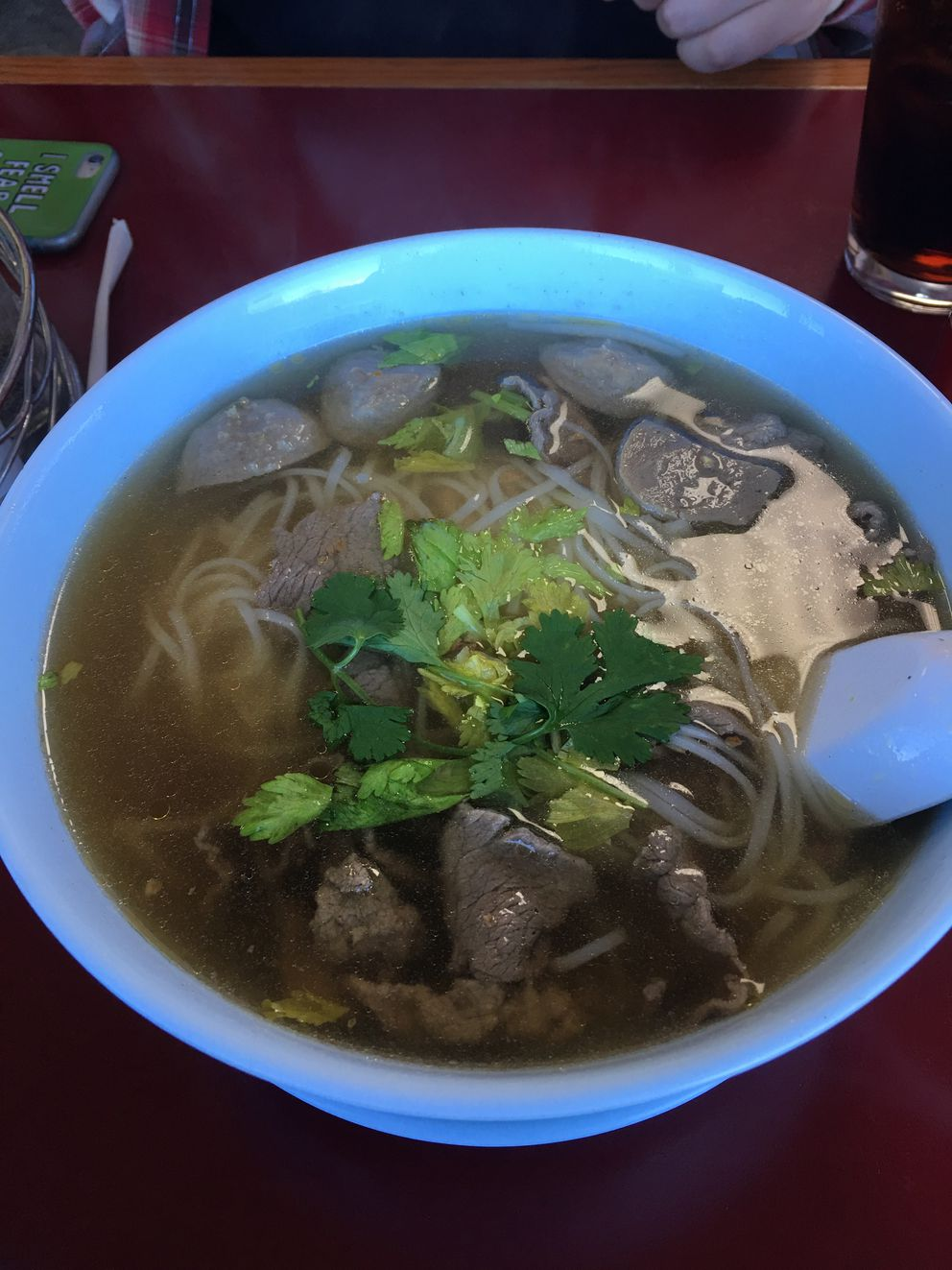 Thai Orchid beef noodle soup (Photo by Mara Severin)