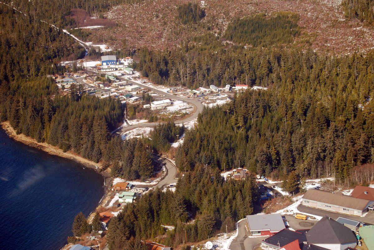 Kake, a former logging and fishing boomtown on Kupreanof Island in Southeast Alaska. (Kim Murphy/Los Angeles Times/MCT)