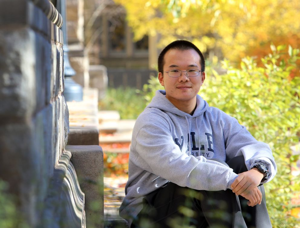 Yifu Dong, a 21-year-old student from Bejing, China, attends Yale University in New Haven, Conn. (Photo for The Washington Post by Stan Godlewski)