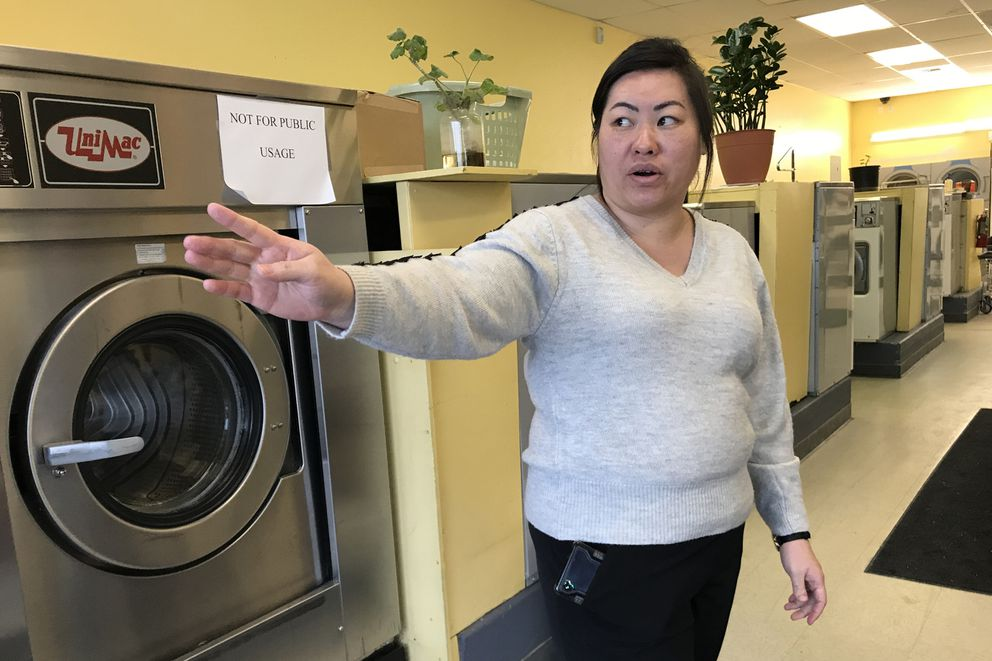 Lucy Moua was working at a business in the Huffman Square Shopping Center when she was hit by glass after a bullet pierced a window on Sunday, Jan. 12, 2020. (Bill Roth / ADN)