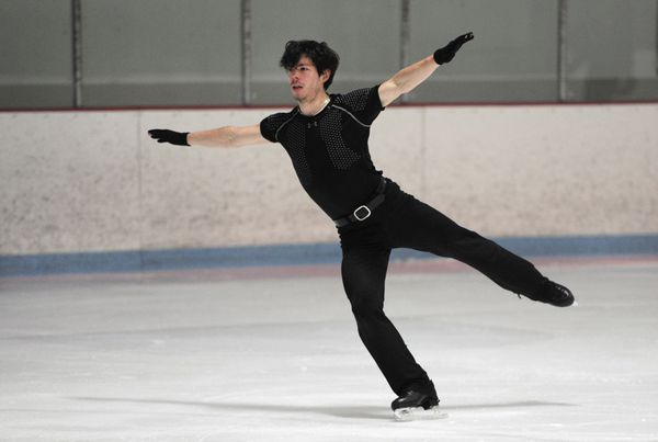 Keegan Messing, 26, practices at the Subway Sports Centre in January. (Bill Roth / ADN)