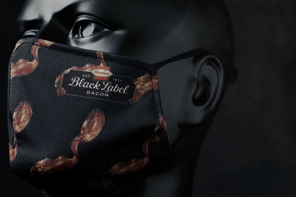Bacon-scented masks are here and, really, you shouldn't be surprised. (Photo from Hormel Foods)