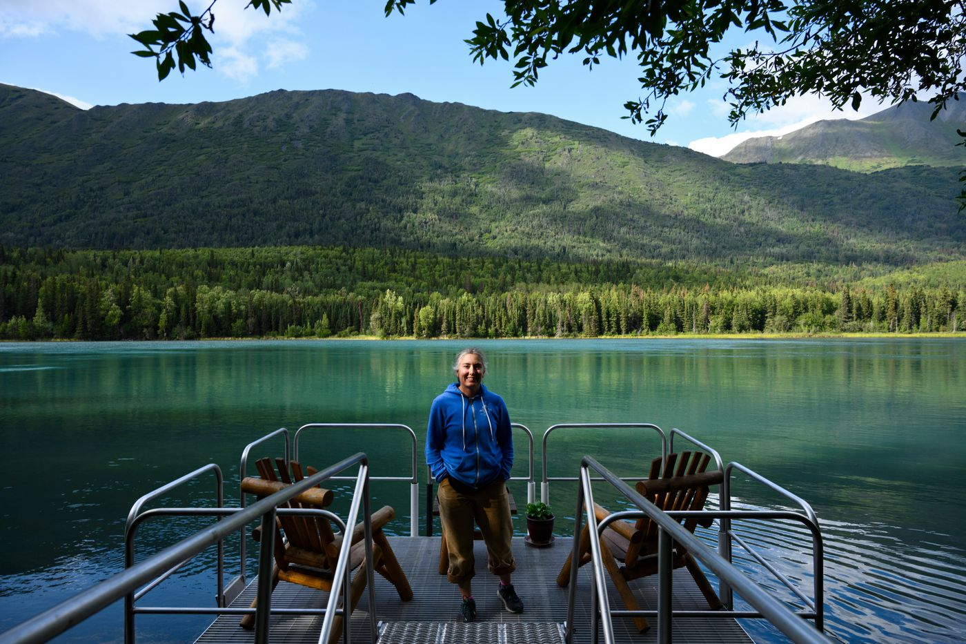 Dusty Byrd-Coulliette, who co-owns Alaska Troutfitter retail store and fishing guide business, said she's had to change her expectations this summer. 'We're just thankful for the business we do get, ' she said. (Marc Lester / ADN)