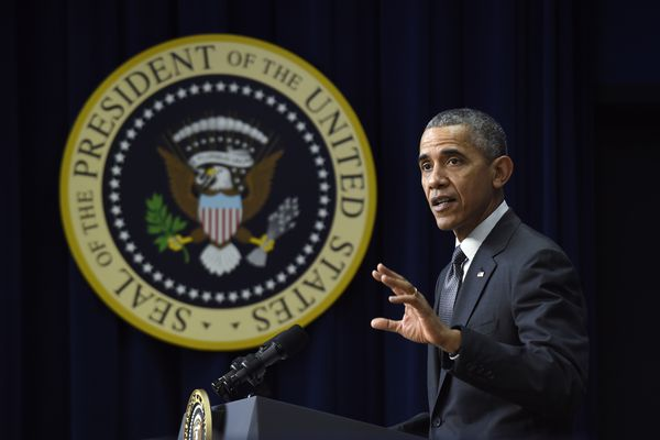 President Barack Obama speaks in Washington, Thursday, Dec. 10, 2015. President Barack Obama's advisers are finalizing a proposal that would expand background checks on gun sales without congressional approval.