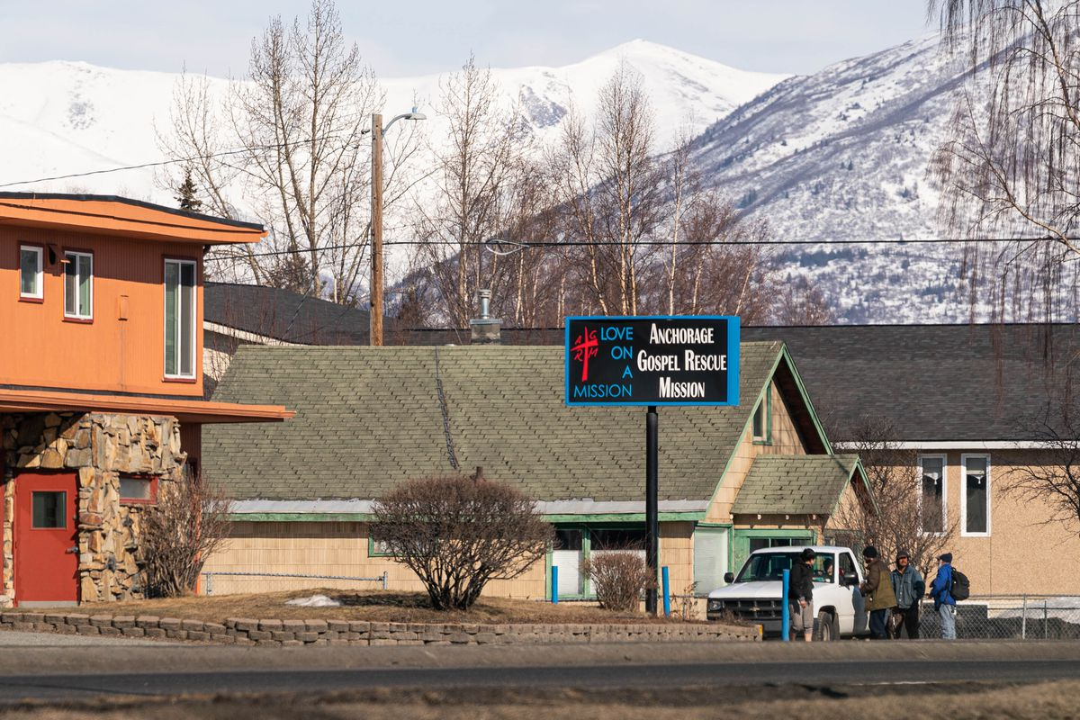 The Anchorage Gospel Rescue Mission on Wednesday, April 8, 2020. (Loren Holmes / ADN)