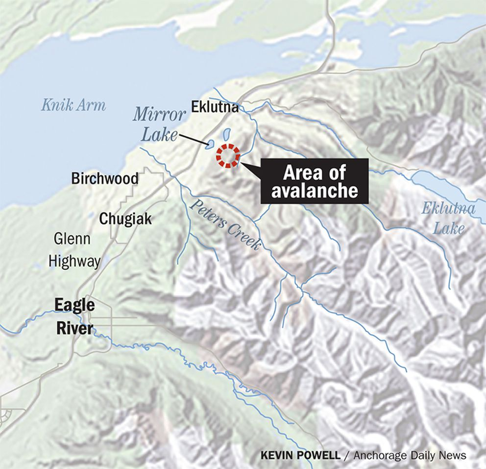 The area of a fatal avalanche that occurred Tuesday, Feb. 2, 2021