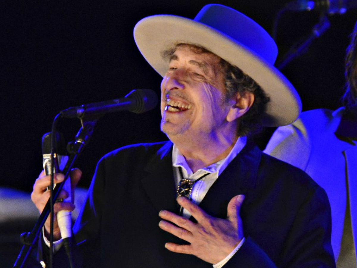 U.S. musician Bob Dylan performs during Day 2 of The Hop Festival in Paddock Wood, Kent, England, on June 30, 2012. (Ki Price / Reuters)