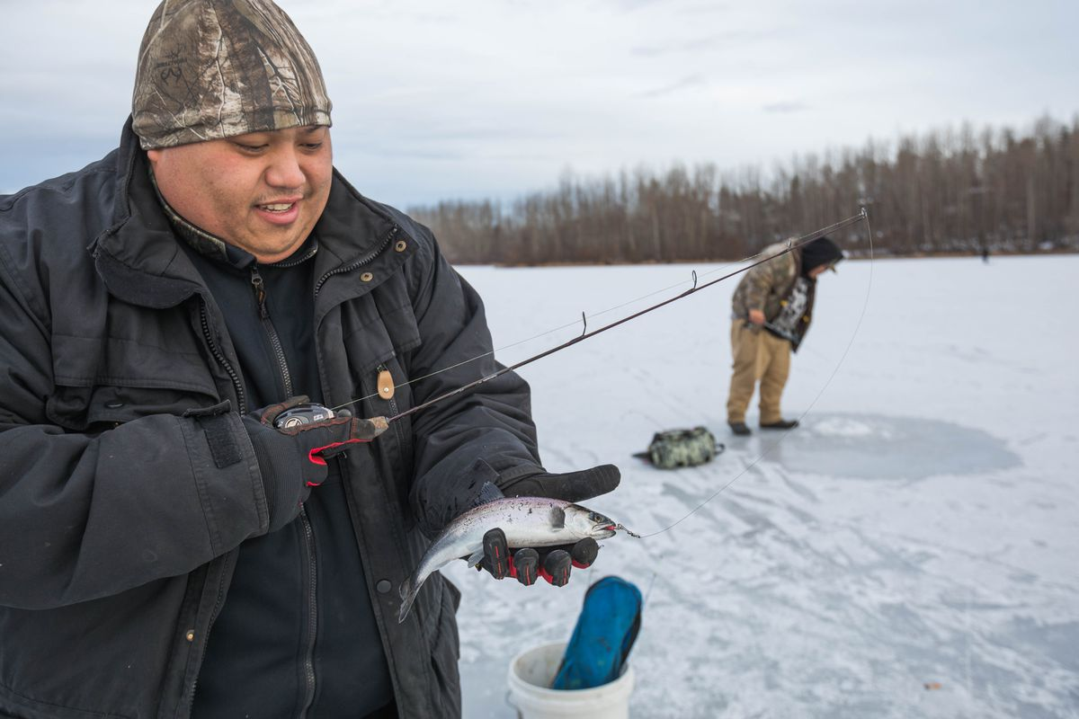 Angling for fun on Alaska's frozen lakes - Anchorage Daily ... Fish X Anchorage