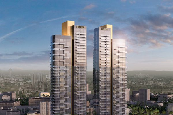 An artist's rendering of the Trump Towers project in Gurgaon, India. MUST CREDIT: Tribeca Developers and M3M India.