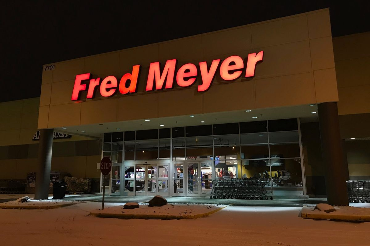 Someone fired a gun inside the Muldoon Fred Meyer store ...