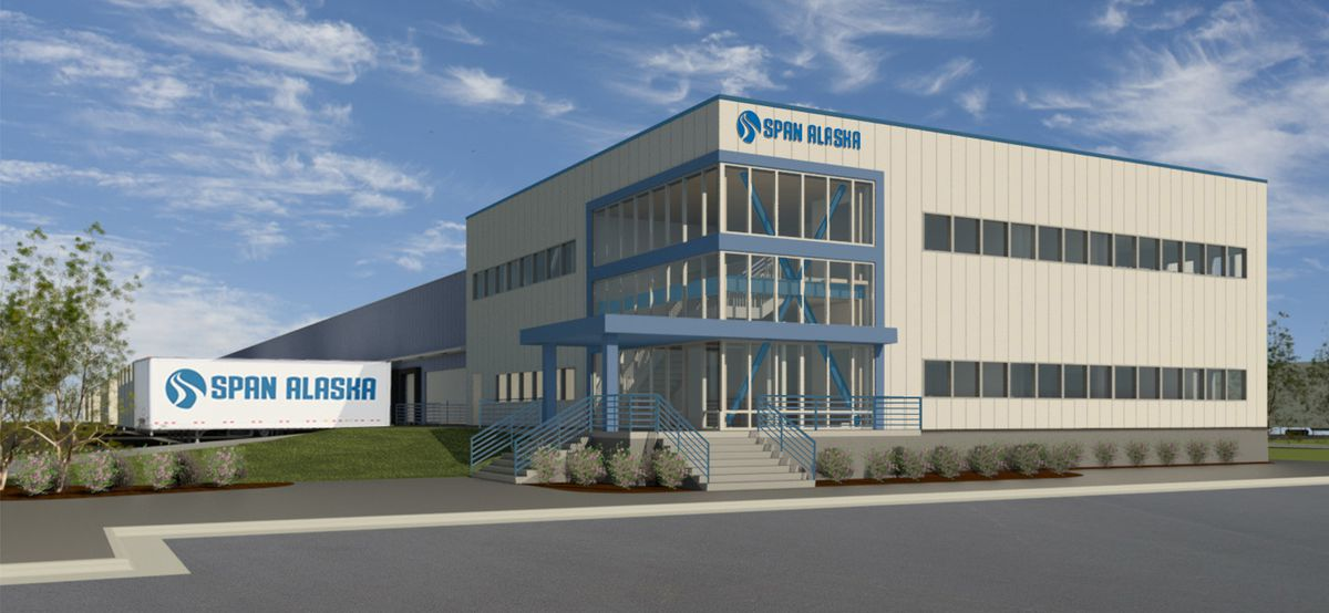 Span Alaska announced Feb. 15 it will construct a new 54,000-square-foot freight terminal in West Anchorage. (Courtesy Span Alaska)
