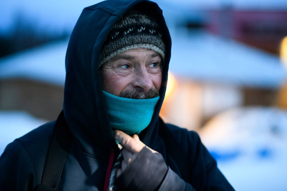 Ed Hopkins prepares to leave Shageluk during the Iditarod on March 9, 2019. (Marc Lester / ADN)