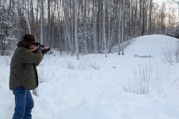 For the shooting enthusiast, being able to shoot in your yard is priceless. Photographed December 2019. (Photo by Steve Meyer)