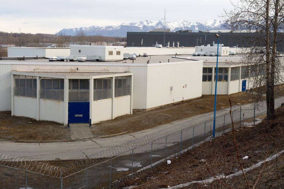 A view of the Cook Inlet Pretrial facility from the bluff along 5th Avenue on Friday, March 27, 2015. (Anchorage Daily News)