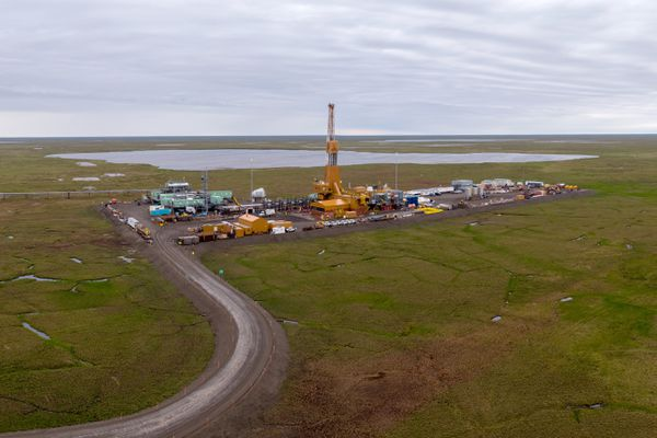 Oil started flowing at ConocoPhillips GMT1 drill site on Friday, Oct. 5, 2018. Photographed on July 18, 2018. (Photo by Tom Pillifant / ConocoPhillips Alaska)