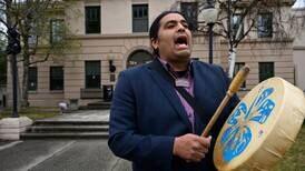 "Tsimshian singer shares ""good energy"" on Anchorage streets"