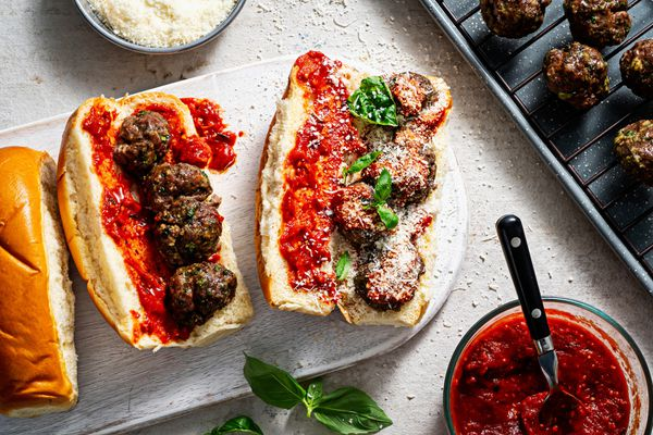 Baked Meatball Sub. Photo by Scott Suchman for The Washington Post.