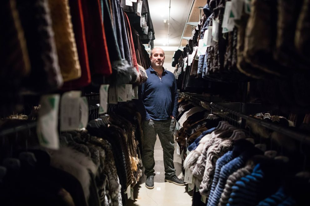 David Green, grandson of his company's namesake, in the vault at David Green Master Furrier on Feb. 24. (Loren Holmes / Alaska Dispatch News)