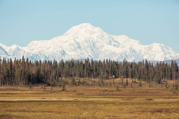 Denali is seen from the Petersville area on Oct. 23, 2016. (Loren Holmes / Alaska Dispatch News)