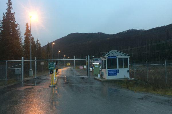 The gate to the Eklutna power plant. (Matt Tunseth)