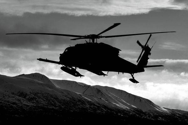 Pictured: An Alaska Air National Guard HH-60 Pave Hawk, from the 210th Rescue Squadron, 176th Wing. October 16, 2012.
