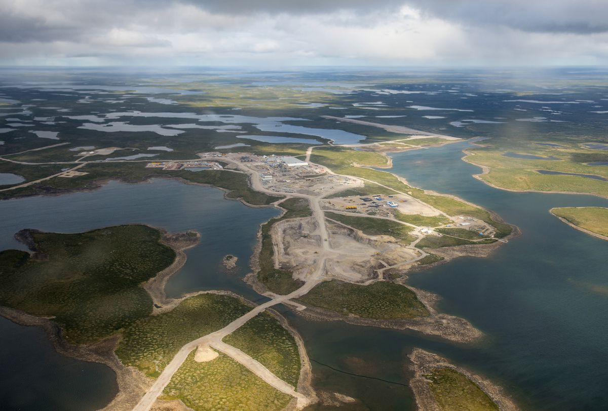 The Gahcho Kué mine. De Beers, the company whose name has been synonymous with the diamond trade since its founding in South Africa by Cecil Rhodes in the 1880s, is opening the world's largest new diamond mine in a decade – in Canada's Far North. (Courtesy of De Beers)