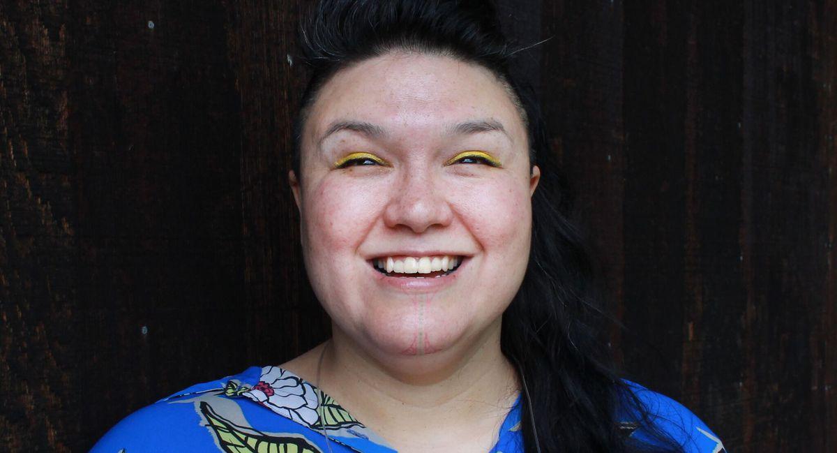 Alaska hip-hop artist Allison Akootchook Warden performs under the name AKU-MATU. (Courtesy INDIGEFI)