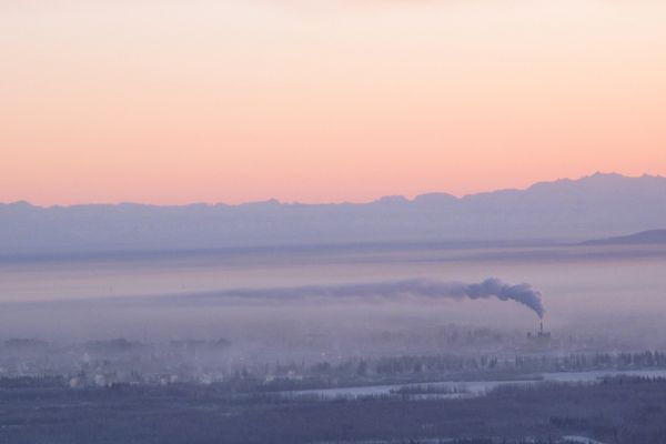 Fairbanks on a cold day in January 2012. (Photo by Ned Rozell)
