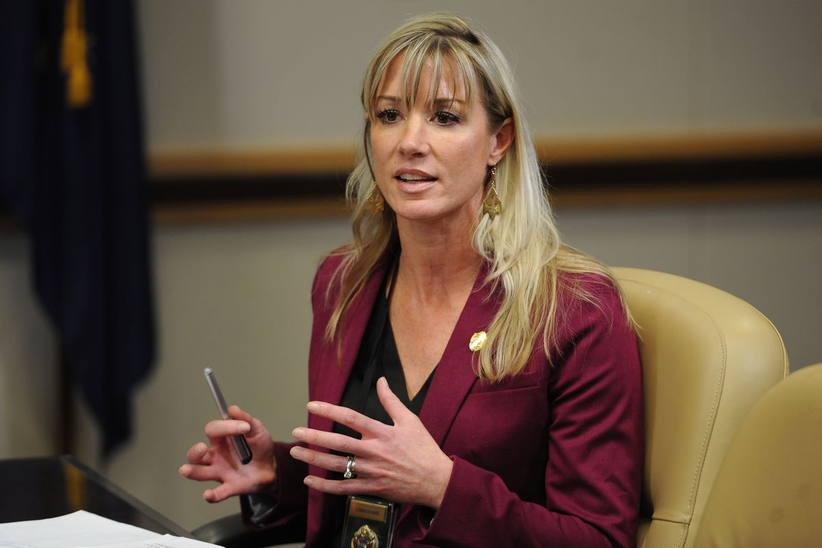 Public Safety Commissioner Amanda Price answers a question during a press conference on public safety and crime on Monday, April 22, 2019. (Bill Roth / ADN)