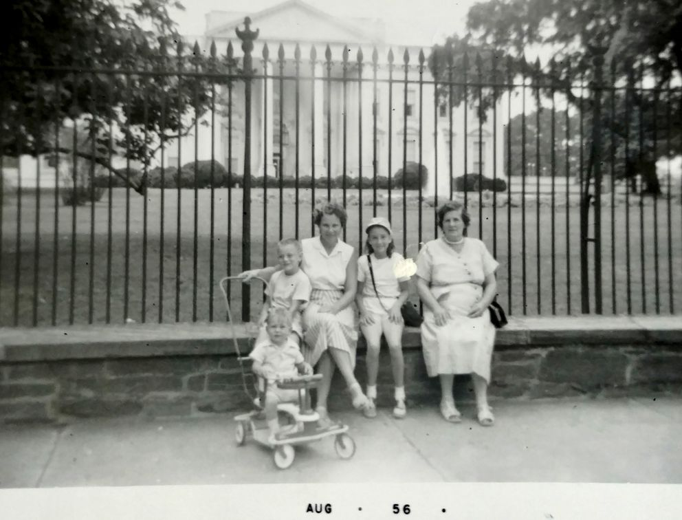Gladys Ament with her three children (left to right: Marshall, Robert Jr. and Mary) and her mother on a family vacation to Washington, D.C., in the 1950s. (Ament family photo)