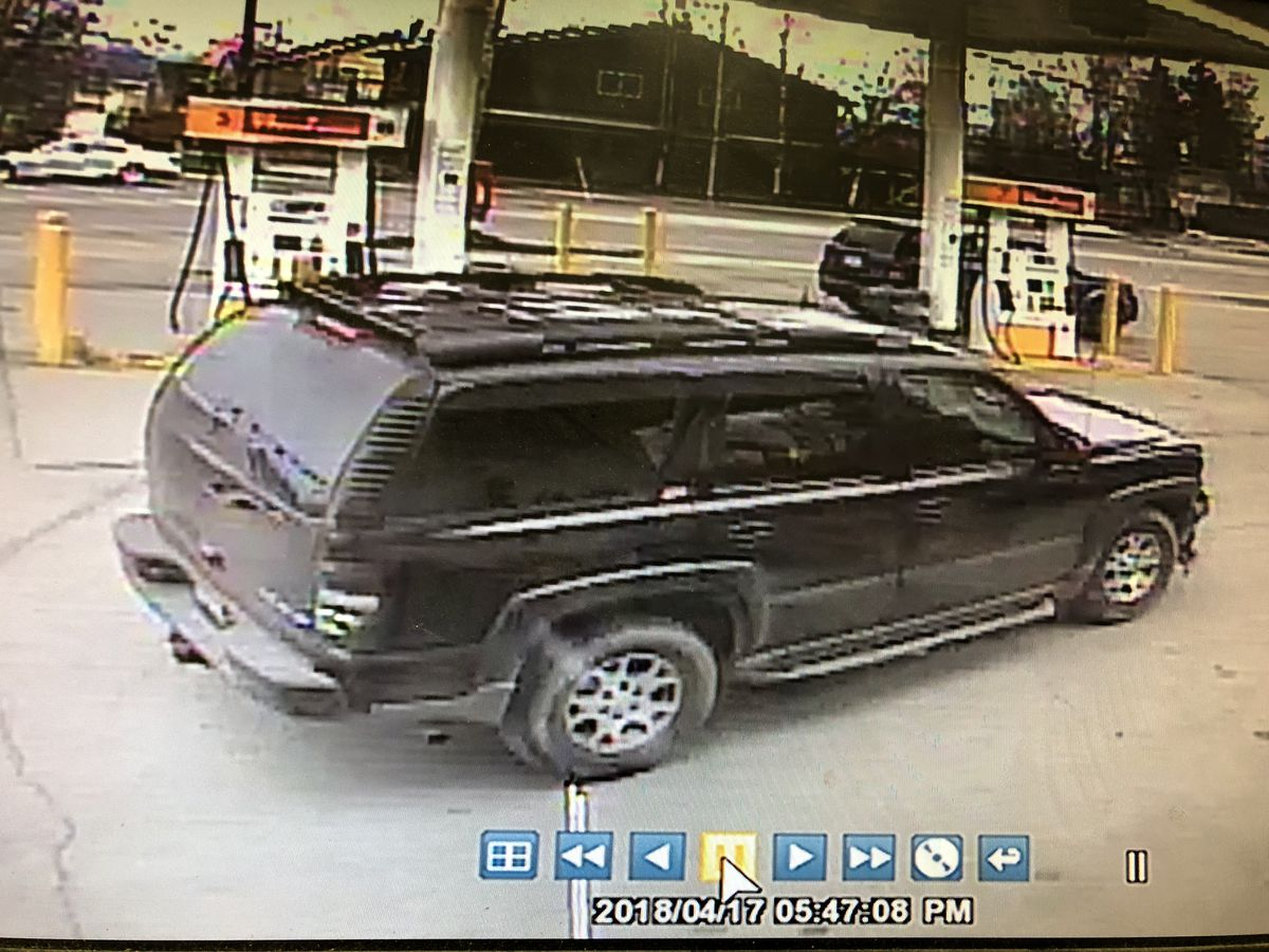 Image of the vehicle used in a robbery at the Shell gas station on 810 W. Tudor Road on Tuesday. (Photo via Anchorage Police Department)