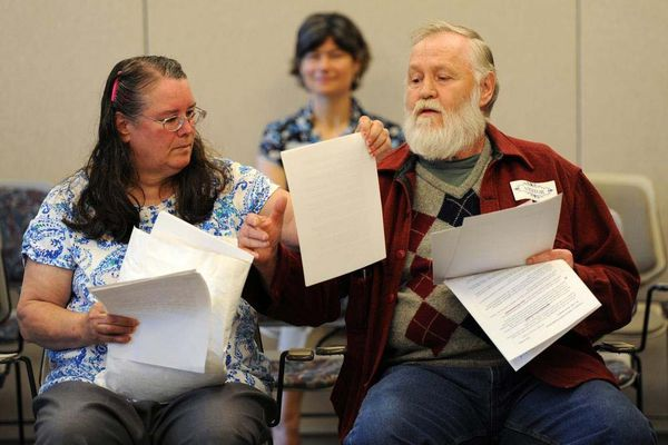 OPINION: Alaska needs an enlightened grievance avenue for disabled psychiatric patients -- not just an answering machine. Pictured: Faith Myers and Dorrance Collins prepare to testify before the Alaska Psychiatric Institute Advisory Board in 2012.