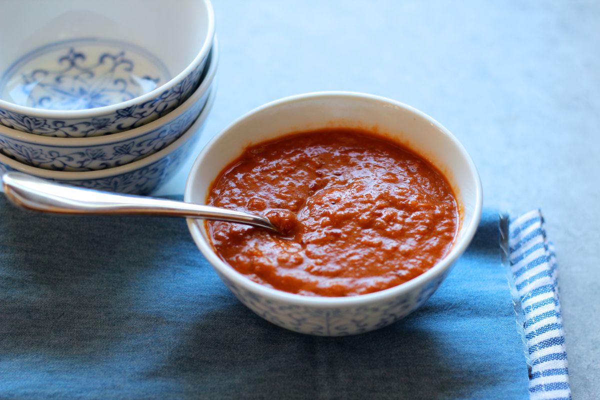 Rhubarb barbecue sauce (Maya Wilson / Alaska from Scratch)