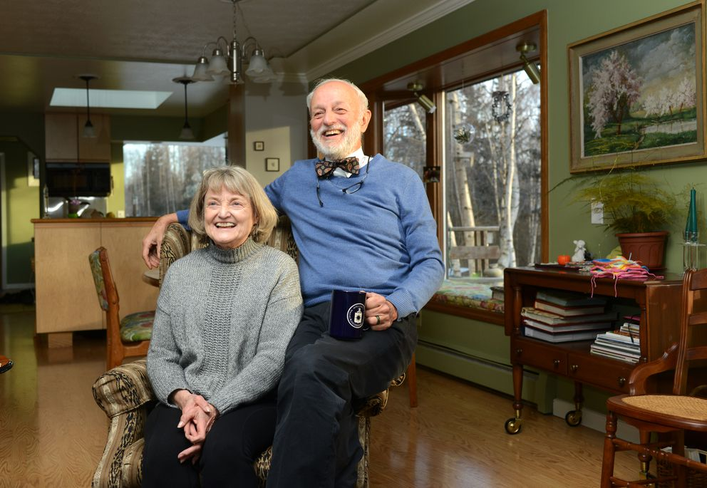 A stint in Malawi with the Peace Corps in the 1960s changed everything for Ruth and Tom Nighswander, who turned their lives to medicine and an ongoing commitment to rural health care in Alaska and in Africa. They were photographed at their Anchorage home recently. (Erik Hill / Alaska Dispatch News)