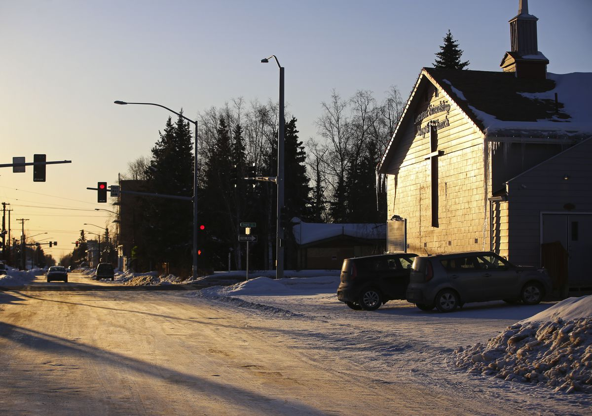 The Greater Friendship Baptist Church on E. 13th Avenue in Anchorage on Friday, March 19, 2021. (Emily Mesner / ADN)