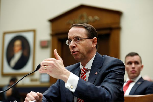 Deputy U.S. Attorney General Rod Rosenstein testifies to the House Judiciary Committee hearing on oversight of the Justice Department on Capitol Hill in Washington, U.S., December 13, 2017. REUTERS/Joshua Roberts