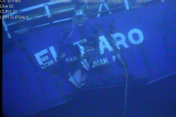 In this photograph released by the National Transportation Safety Board, the damaged stern of the sunken freighter El Faro is seen on the seafloor, 15,000-feet deep near the Bahamas. The freighter sunk on Oct. 1, 2015, after losing engine power and getting caught in a Category 4 hurricane. All 33 crew members aboard were lost at sea. Federal investigators are considering launching another search of the wreckage of a freighter.