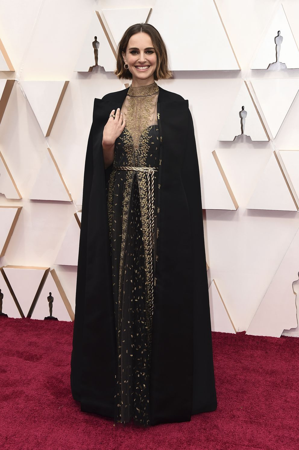 Natalie Portman arrives at the Oscars on Sunday, Feb. 9, 2020, at the Dolby Theatre in Los Angeles. (Photo by Jordan Strauss/Invision/AP)