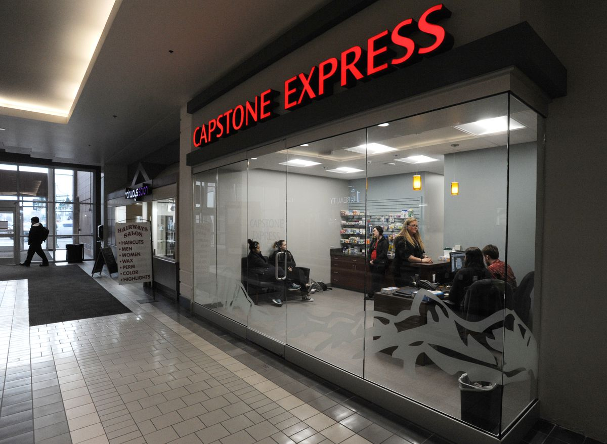 Capstone Express, a telemedicine clinic, opens Tuesday in the Anchorage 5th Avenue Mall. (Bill Roth / ADN)