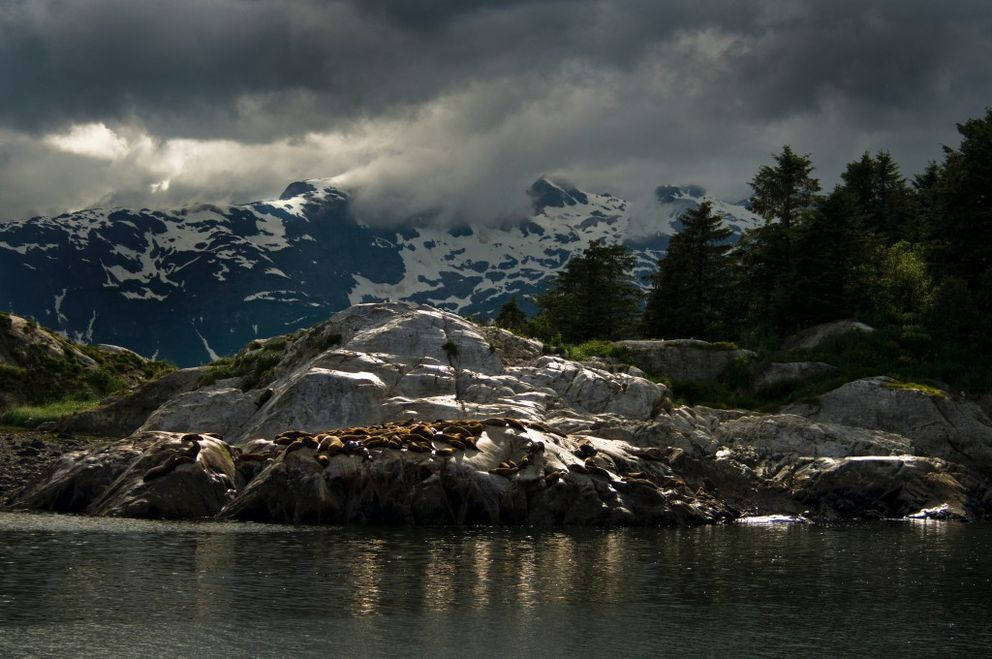 The Marble Islands, with rainy weather and gorgeous views. (Photo courtesy National Park Service)
